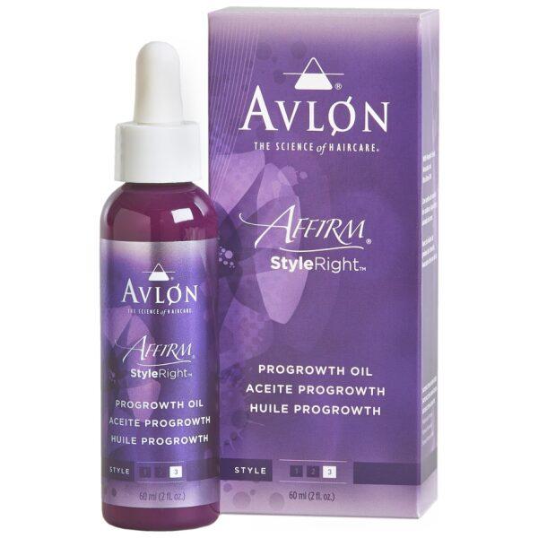 Avlon Affirm ProGrowth oil box with bottle-